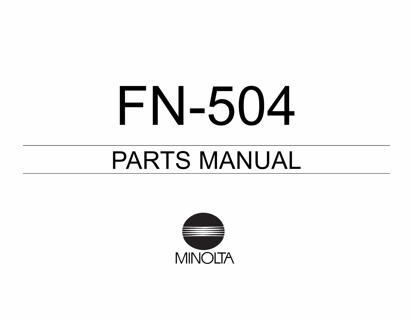 Konica-Minolta Options FN-504 Parts Manual-1